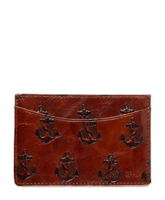 Embossed Anchor Credit Card Holder
