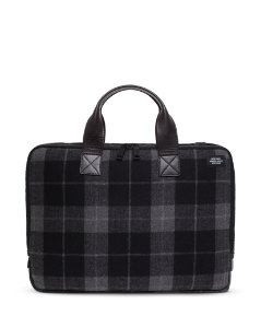 Plaid Bonded Wool Slim Brief