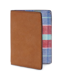 Madras Vertical Flap Wallet