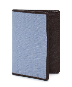 Oxford & Leather Vertical Flap Wallet
