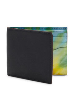 Tie Dye Printed Leather Bill Holder