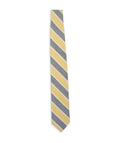Washed Silk-Cotton Stripe Tie