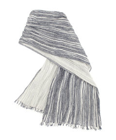 Multi Stripe Cotton Scarf
