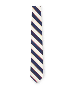 Navy Thick Stripe Tie