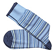 VARIEGATED THIN STRIPE SOCKS