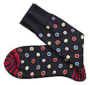 FRAMED-DOTS SOCKS