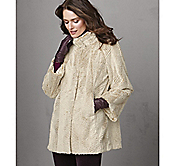 FAUX-FUR A-LINE COAT