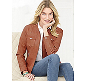 FOUR-POCKET LEATHER JACKET