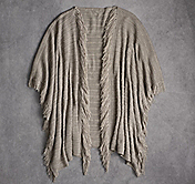 FRINGED LINK-STITCH RUANA