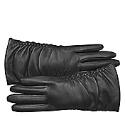 RUCHED TOUCHTEC® LEATHER GLOVES