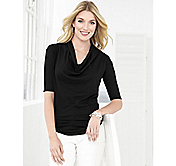 DRAPED-NECK TOP