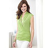 SLEEVELESS CROSSOVER TOP
