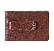 EST. 1850 LEATHER TWO-FOLD MONEY CLIP