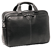 DOUBLE-ZIP LEATHER BRIEFCASE