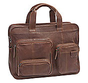 EST. 1850 LEATHER ZIP-TOP BRIEFCASE