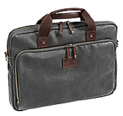 EST. 1850 CANVAS SLIM LAPTOP BRIEFCASE