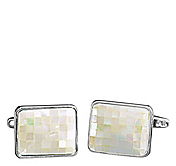 MOTHER-OF-PEARL CHECKERBOARD CUFFLINKS