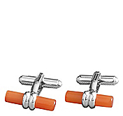 ORANGE TUBE CUFFLINKS