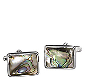 SHELL RECTANGLE CUFFLINKS