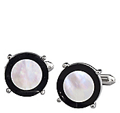 MOTHER-OF-PEARL WITH BLACK BORDER CUFFLINKS