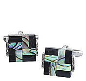 INLAID GEO SQUARE CUFFLINKS