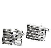 RIBBED RECTANGLE CUFFLINKS