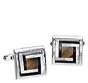 TIGER'S EYE MAZE CUFFLINKS