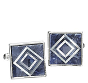 DOUBLE-DIAMOND CUFFLINKS