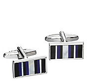 STRIPED RECTANGLE CUFFLINKS