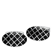 OVAL GRID CUFFLINKS