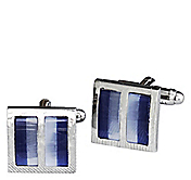DIVIDED BLUE STONE SQUARE CUFFLINKS