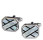 MOTHER-OF-PEARL & ONYX CUFFLINKS