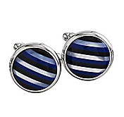 ROUND STRIPE CUFFLINKS
