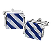 LAPIS & MOTHER-OF-PEARL STRIPE CUFFLINKS
