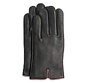 DEERSKIN GLOVES WITH CONTRAST STITCHING