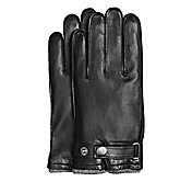 SHEEPSKIN SNAP-CLOSE GLOVES