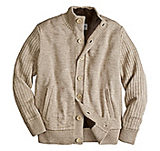 BUTTON-FRONT SWEATER JACKET