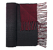 REVERSIBLE OMBRÉ GRADUATED STRIPE SCARF