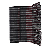 VERTICAL LATTICE STRIPE SCARF