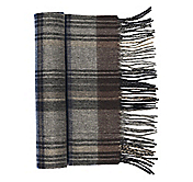 WOOL CASHMERE MICRO-HERRINGBONE PLAID SCARF
