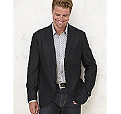 DOUBLE-FACED WOOL BLAZER