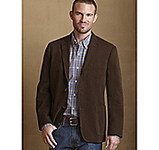 GARMENT-WASHED RAISED TWILL BLAZER