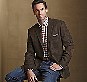 WOOL-BLEND TWEED BLAZER