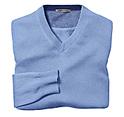 FINE GAUGE V-NECK SWEATER