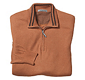 FINE-GAUGE QUARTER-ZIP SWEATER