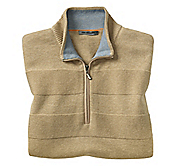 QUARTER-ZIP PIMA COTTON VEST