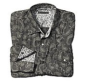 SLIM FIT CRINKLE PAISLEY SHIRT