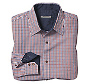 TAILORED FIT MINI-CHECK SHIRT