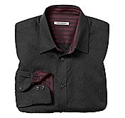 TAILORED FIT MEDALLION JACQUARD SHIRT