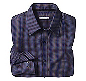 TAILORED FIT MINI SQUARE NEAT SHIRT